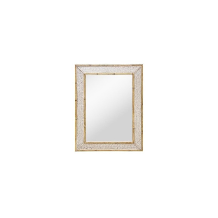Carter Woven Bamboo Mirror - Washed Finish 79x109cmh