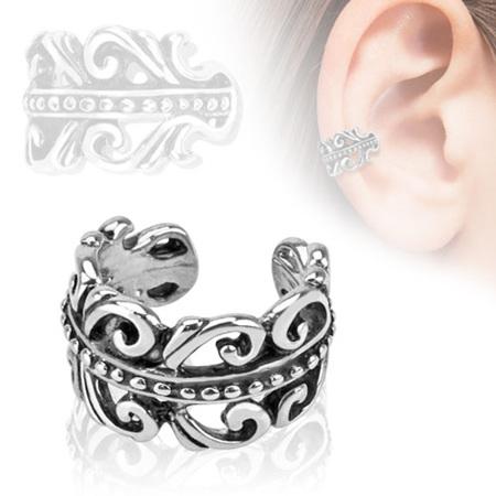 Carved Swirls Non Piercing Ear Cuff