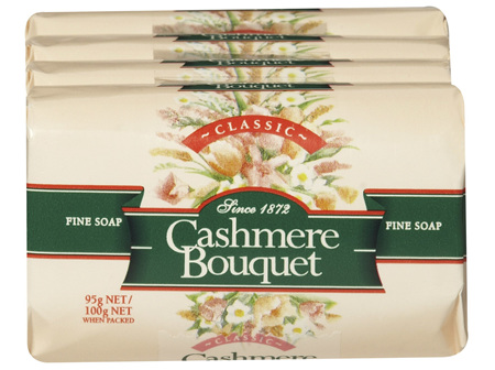 Cashmere Bouquet Fine Bar Soap Classic Floral fragrance 4 x 100g