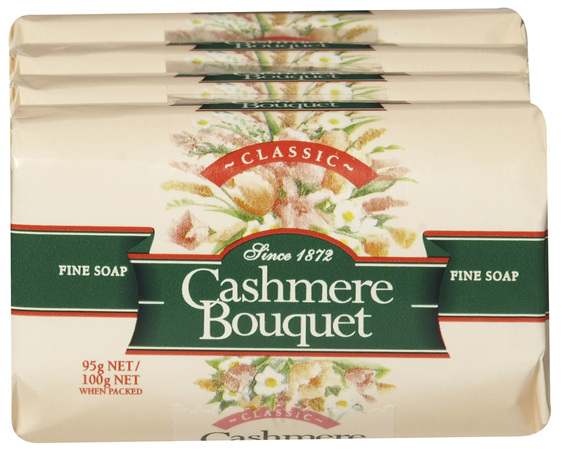 Cashmere Bouquet Fine Bar Soap Classic Floral fragrance 4 x 100g