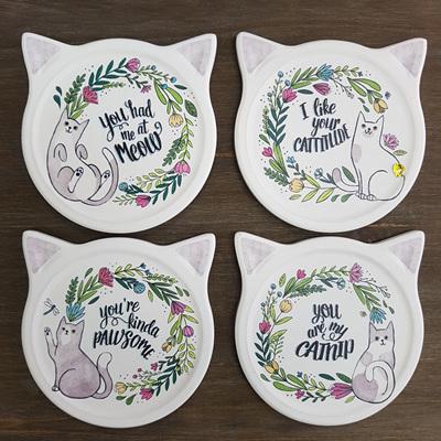 Cat Coasters - set of four