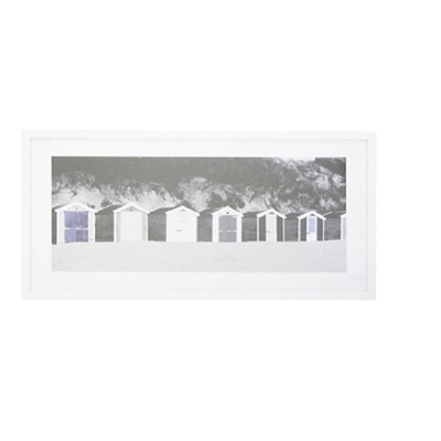 Caye Print Framed W Glass - White Frame 43x83cm