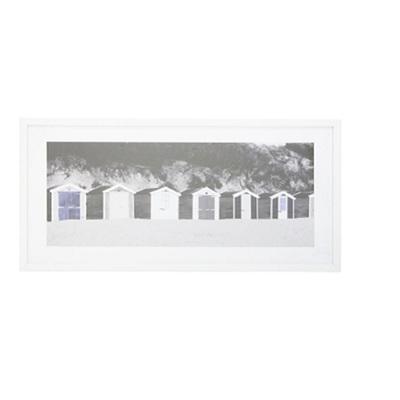 Caye Print Framed W Glass - White Frame 43x83cm