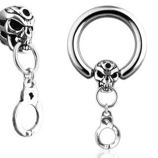 CBR with Skull and Handcuff Dangle