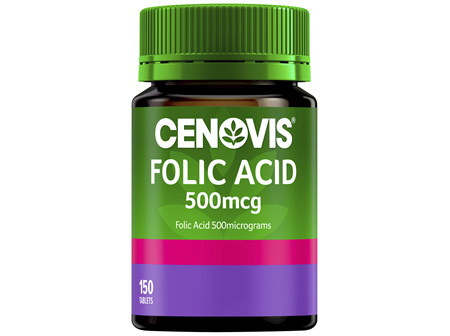 Cenovis Folic Acid 500mcg 150 Tablets