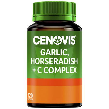 Cenovis Garlic and Horseradish + C Complex 120 Capsules