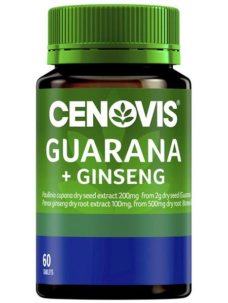 Cenovis Guarana + Ginseng 60 Tablets