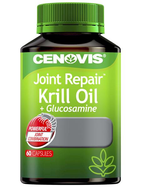 Cenovis Joint Repair Krill Oil + Glucosamine 60 Capsules