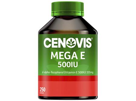 Cenovis Mega E 500IU 250 Capsules