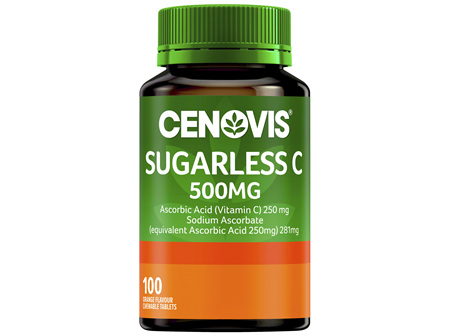 Cenovis Sugarless C 500mg 100 Chewable Tablets