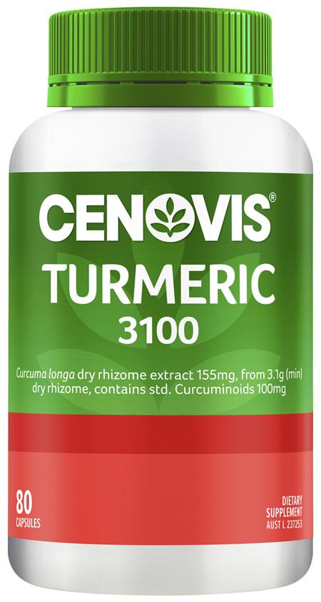 Cenovis Turmeric 3100 80 Capsules