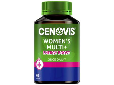 Cenovis Women's Multi + Energy Boost 50 Capsules