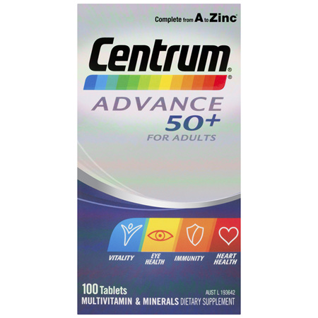Centrum Advance 50+ For Adults Tablets 100 Pack