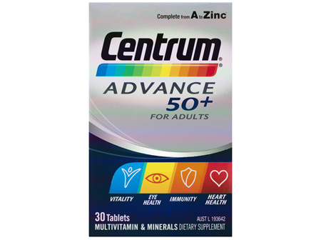 Centrum Advance 50+ For Adults Tablets 30 Pack