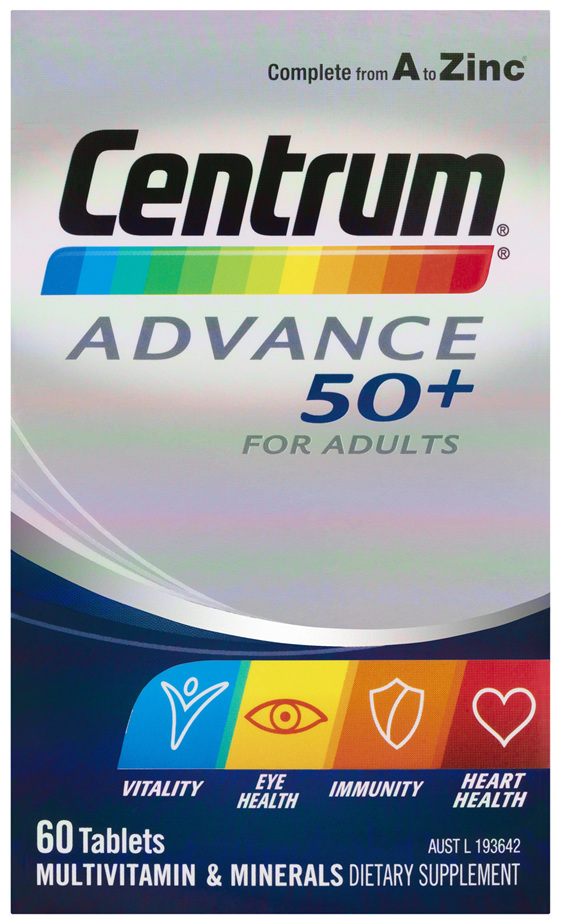 Centrum Advance 50+ For Adults Tablets 60 Pack
