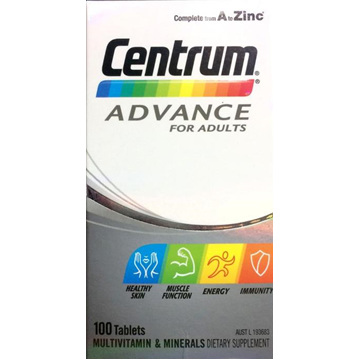 Centrum Advance For Adults Tablets 100