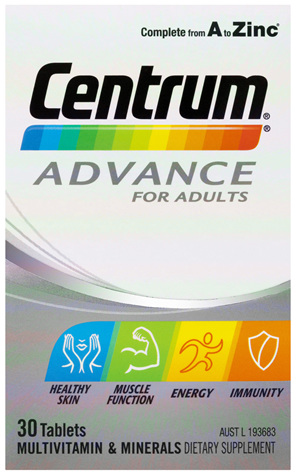 Centrum Advance For Adults Tablets 30 Pack