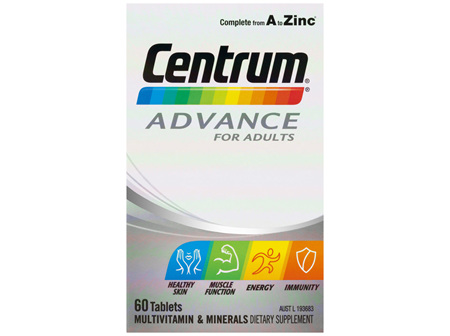 Centrum Advance For Adults Tablets 60 Pack