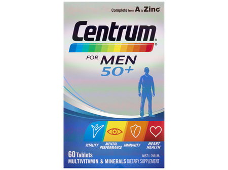 Centrum For Men 50+ 60 Tablets
