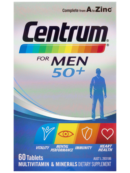 Centrum For Men 50+ Tablets 60 Pack