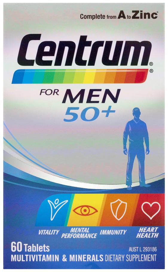 Centrum For Men 50+ Tablets 60 Pack
