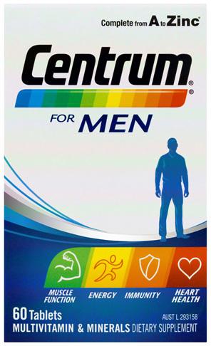 Centrum For Men Tablets 60 Pack