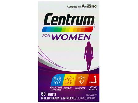 Centrum For Women 60 Tablets