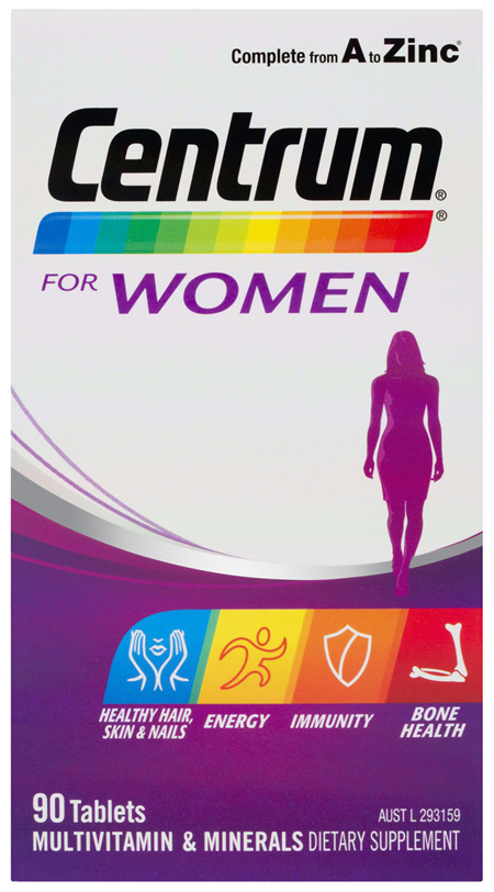 Centrum For Women 90 Tablets