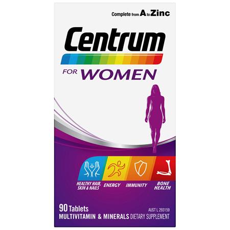 Centrum For Women 90 Tablets
