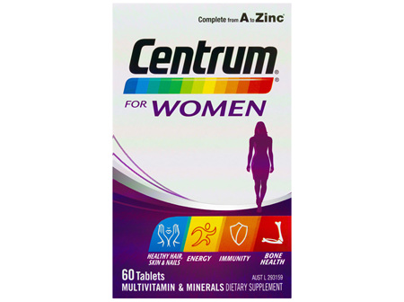 Centrum For Women Tablets 60 Pack