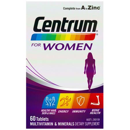 Centrum For Women Tablets 60 Pack