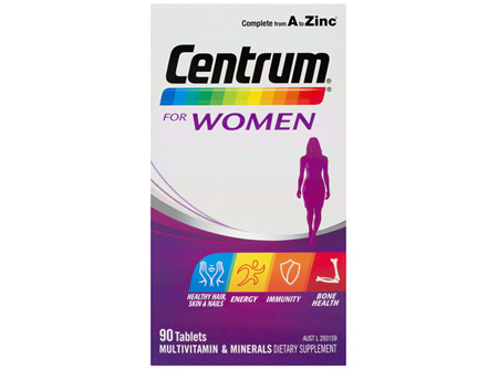 Centrum For Women Tablets 90 Pack