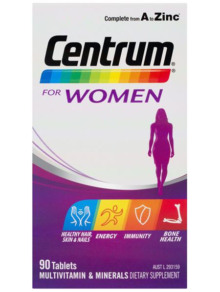 Centrum For Women Tablets 90 Pack