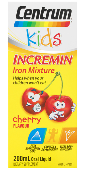 Centrum Kids Incremin Iron Mixture Cherry 200mL