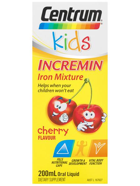 Centrum Kids Incremin Iron Mixture Oral Liquid Cherry 200mL