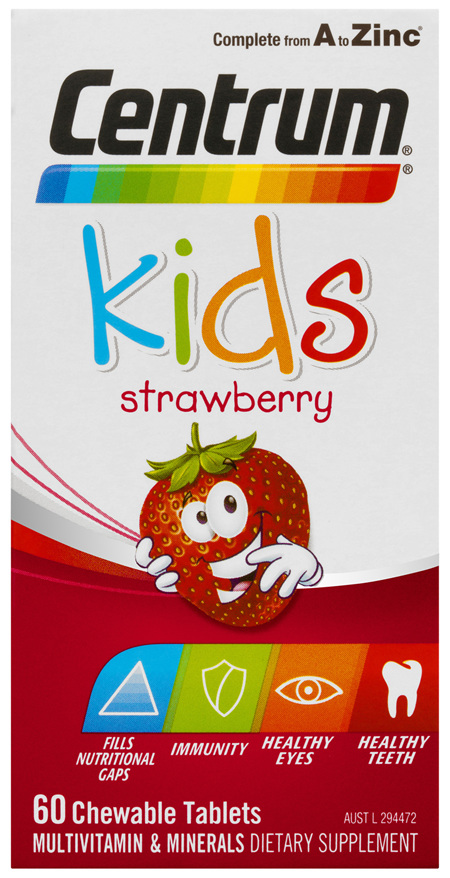 Centrum Kids Strawberry Chewable Tablets 60 Pack