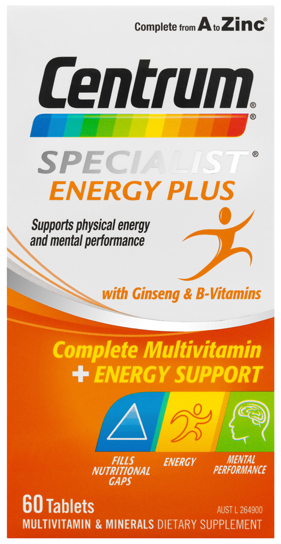 Centrum Specialist Energy Plus Tablets 60 Pack