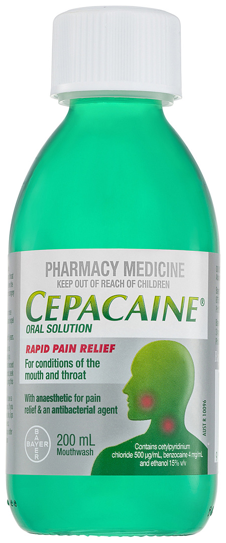 Cepacaine Mouthwash Liquid 200mL