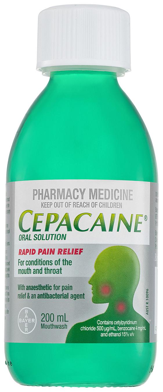 Cepacaine Mouthwash Liquid 200mL