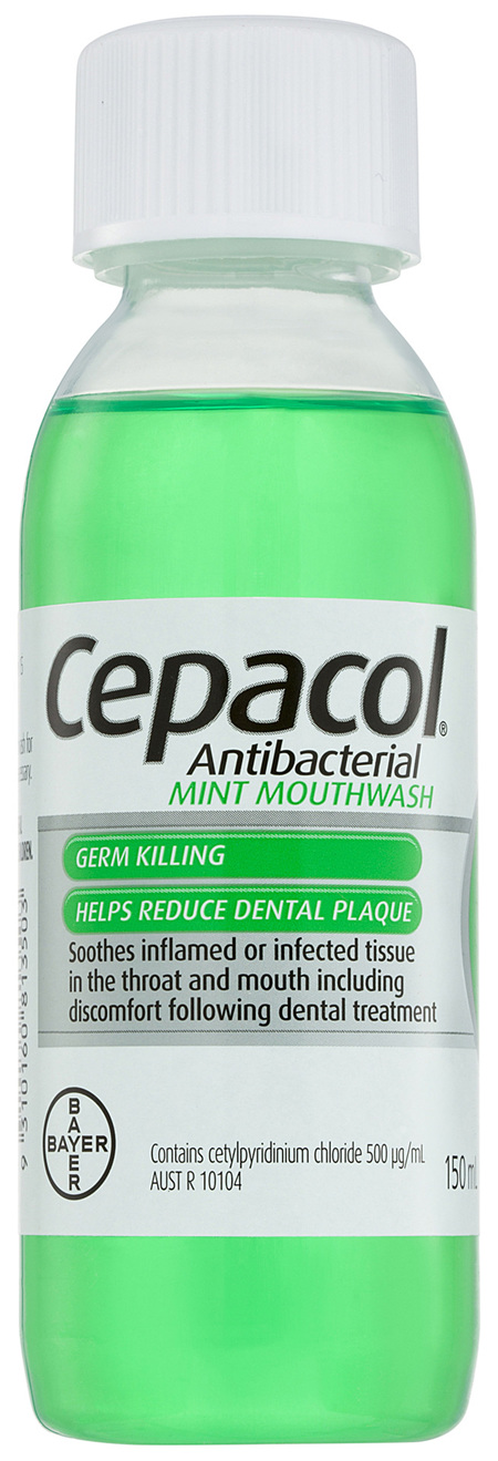 Cepacol Antibacterial Mint Mouthwash150mL