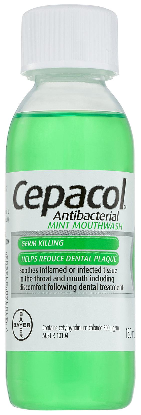 Cepacol Antibacterial Mint Mouthwash150mL