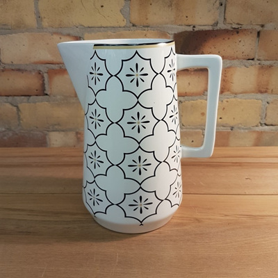 Ceramic D-Handle Jug - Moroccan White