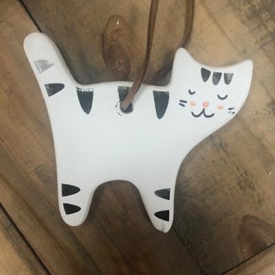 Ceramic Hanging Cat