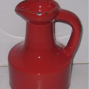 Ceramic Jug Red Antique - 18.5cmh