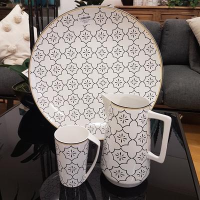 Ceramic Platter - Moroccan White
