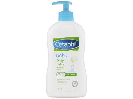 Cetaphil Baby Daily Lotion with Shea Butter 400mL, Face&Body