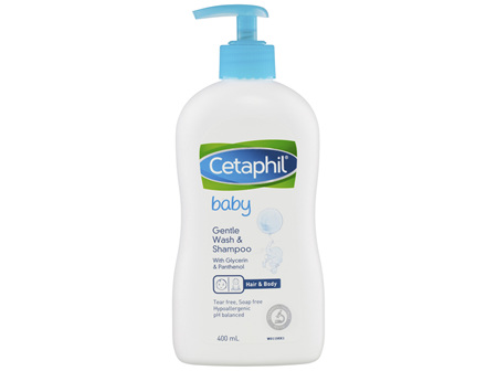 Cetaphil Baby Gentle Wash & Shampoo 400mL, For Newborn Baby
