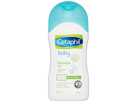 Cetaphil Baby Massage Oil 200mL, Soothes