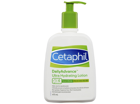 Cetaphil DailyAdvance Ultra Hydrating Lotion 473mL, Dry Skin