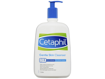 Cetaphil Gentle Skin Cleanser 1L, For Face & Body Care